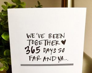 New York on Paper – Our First Anniversary